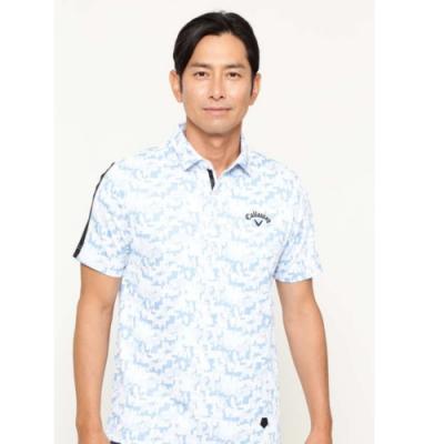 Callaway 數碼迷彩短袖Polo衫 藍 252-0134506-110