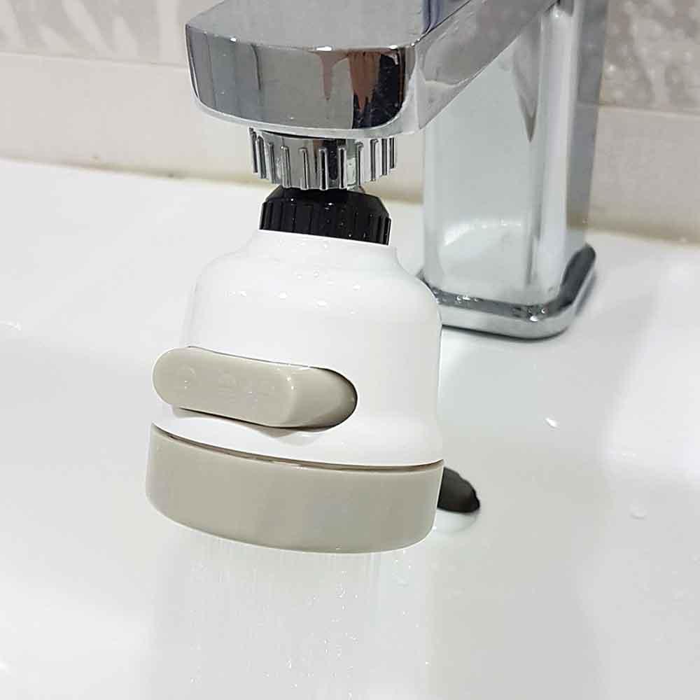360度三段可調式省水增壓水龍頭 節水花灑頭