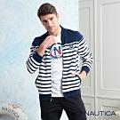 Nautica時尚型男純棉刷毛立領外套-深藍