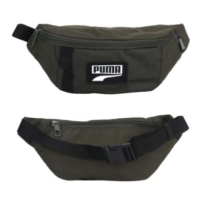 PUMA DECK腰包-臀包 側背包 慢跑 斜背包 07690608 軍綠黑白