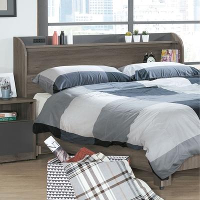文創集 肯雅 現代5尺雙人收納床頭箱(不含床底+不含床墊)-151.5x19.5x94cm免組