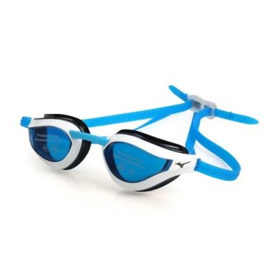 MIZUNO 健康型墊片泳鏡  SWIM 白藍