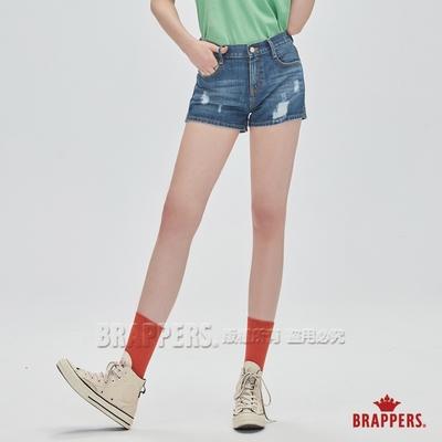 BRAPPERS 女款 Boy friend系列-中腰全棉短褲-深藍