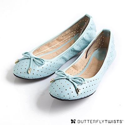 BUTTERFLY TWISTS-GRACE可折疊扭轉芭蕾舞鞋(淡粉藍)