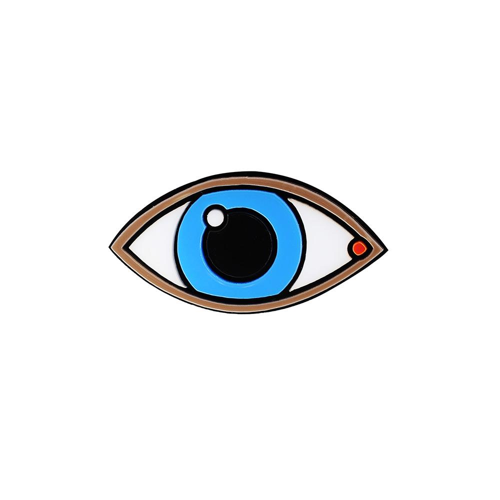 Yazbukey法國品牌 藍眼睛壓克力戒指