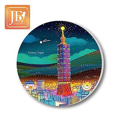 JB Design陶瓷吸水杯墊160_台北夜晚