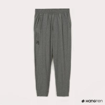 Hang Ten-男裝-恆溫多功能-REGULAR FIT標準四向彈力吸濕快乾抗曬運動長褲-灰色