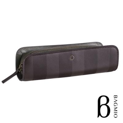 BAGMIO authentic 系列雙色牛皮筆袋-棕綠