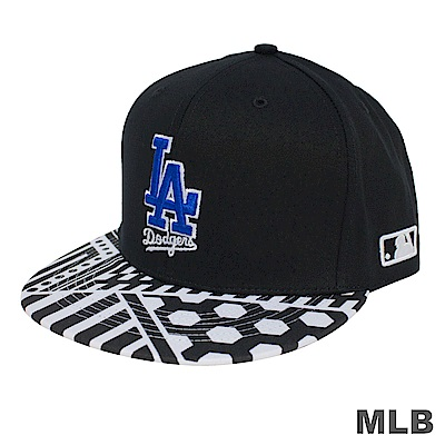 MLB-帽簷道奇印花可調式棒球帽