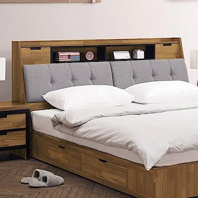 文創集 普爾5尺亞麻布雙人床頭箱(二色+不含床底)-157x30x108cm免組