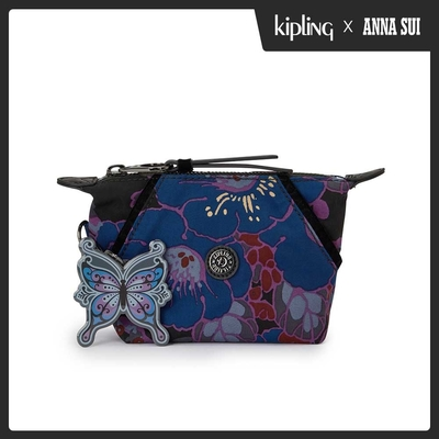 Kipling Kipling x ANNA SUI 搖滾冬青羽蝶印花拉鍊大開口手拿包-ART POUCH MINI