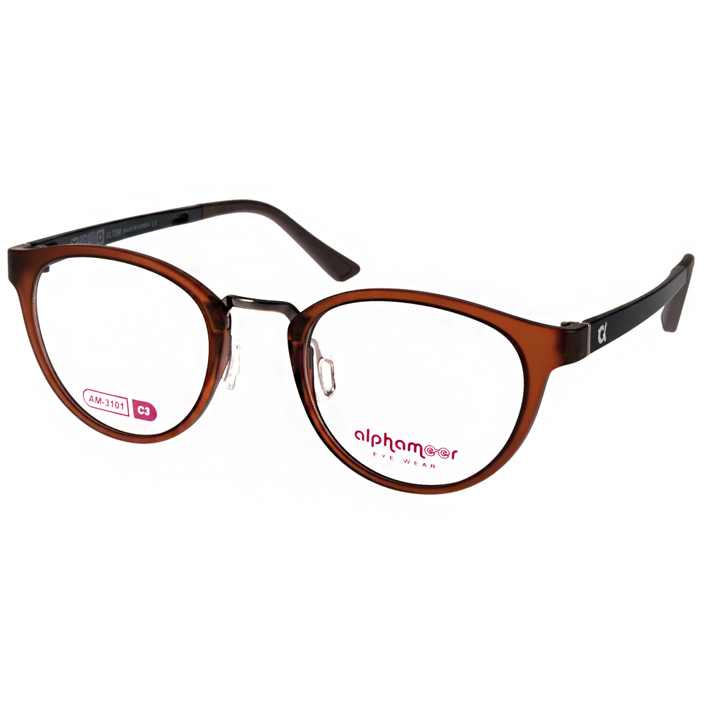 Alphameer光學眼鏡 韓國塑鋼系列/霧棕#AM3101 C03