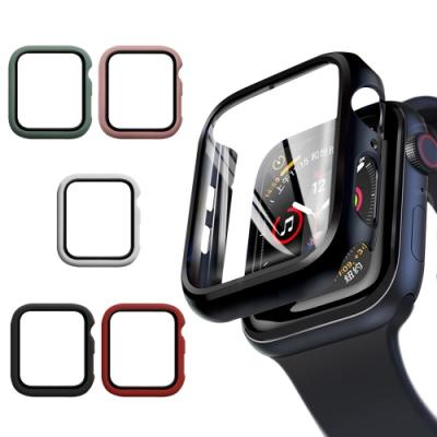 CITY BOSS for Apple watch一體成形式玻璃加保護殻- 44mm