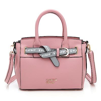 PLAYBOY- 手提包附長背帶  玩色繽紛系列-粉紅色