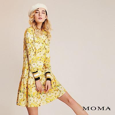 限時商品 | MOMA 花卉條紋袖口洋裝