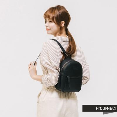 H:CONNECT 韓國品牌 配件 -個性拉鍊後背包