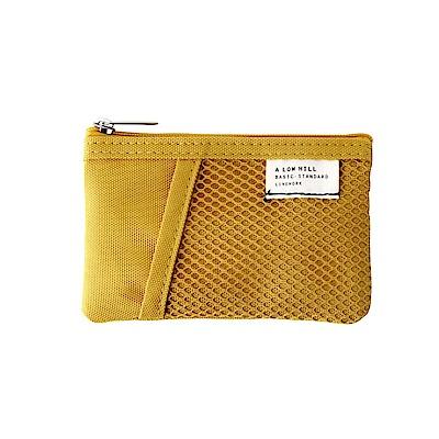 Livework 休閒風雙層對摺票卡零錢包V2-芥末黃