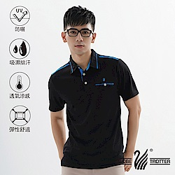 【遊遍天下】MIT男款吸濕排汗抗UV機能POLO衫GS10039黑色