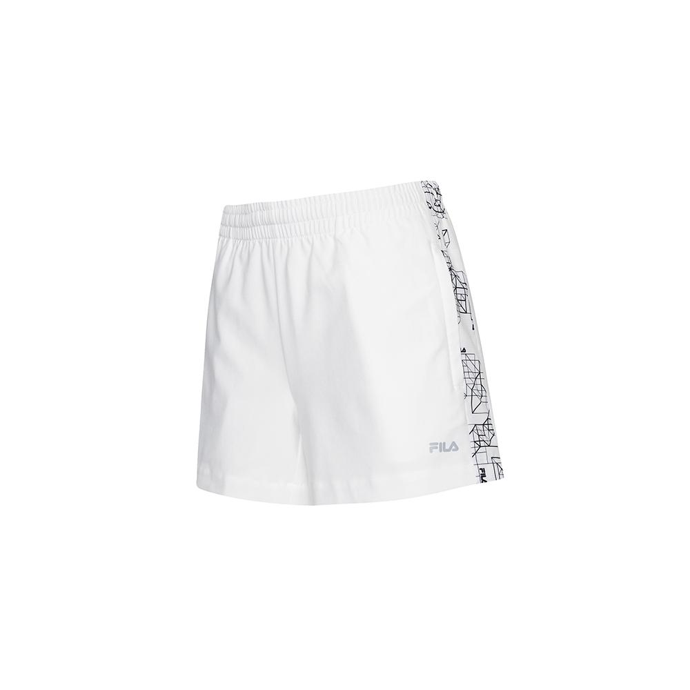 FILA 女平織短褲-白 5SHV-5318-WT