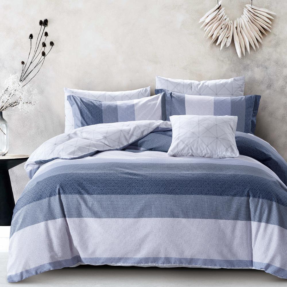 Grace Life 永恆 台灣精製 雙人精梳純棉床包三件組~床圍高度35公分