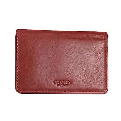 CALTAN-名片夾 卡片夾 卡夾 信用卡夾 男夾 女夾 -2125cd-紅