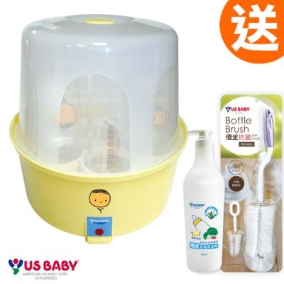 優生蒸汽式奶瓶消毒鍋(贈奶瓶清潔劑500ML+奶瓶刷1隻)