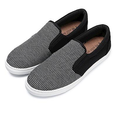 BuyGlasses 條紋和素面激情邂逅懶人鞋-黑