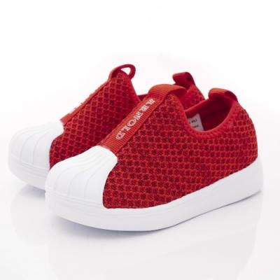 雨傘牌 針織學步貝殼鞋款 EI93603紅(中小童段)