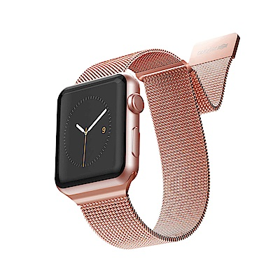 x-doria Apple Watch 42/44mm 米蘭尼斯不鏽鋼錶帶 - 玫瑰金