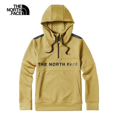 The North Face北面男款卡其色舒適柔軟針織上衣 46HCJZ3