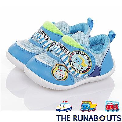 (雙11)THE RUNABOUTS 抗菌輕量寶寶學步童鞋-水