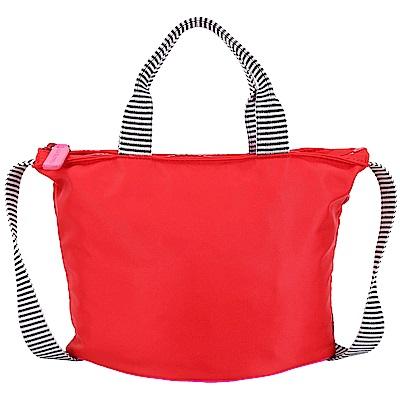 LULU GUINNESS Lola 小型 紅唇底設計尼龍手提肩背包(紅色)
