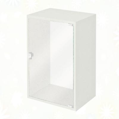 文創集 蘇菲亞 環保1.3尺南亞塑鋼玻璃單開門置物櫃/收納櫃-40x31x60cm免組