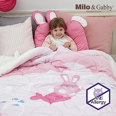 Milo&Gabby 動物好朋友-兒童大人款輕柔舒適FresiL棉被(LOLA美人魚)