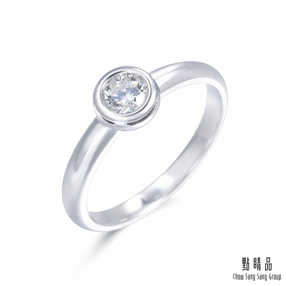 點睛品-INFINI LOVE DIAMOND-Iconic系列- 0.5克拉鑽石戒指