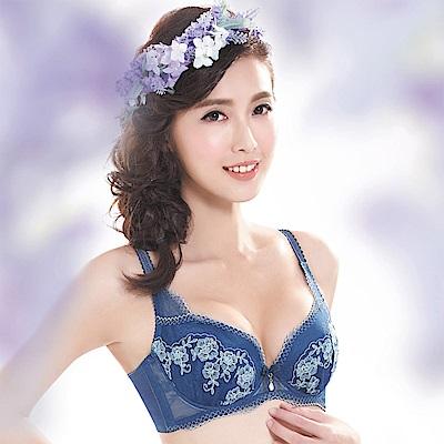 莎薇-魔力推推挺浪漫B-C罩杯內衣(深海藍)