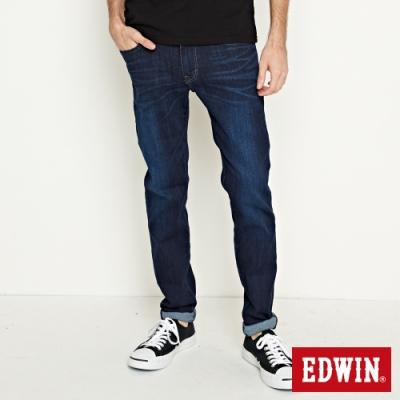 EDWIN EDGE LINE 超彈窄管牛仔褲-中性-原藍磨