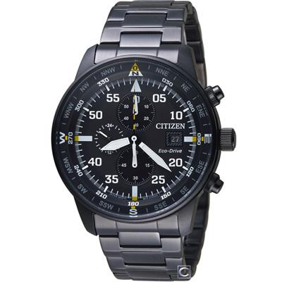 CITIZEN 星辰 飛行風格光動能計時腕錶(CA0695-84E)