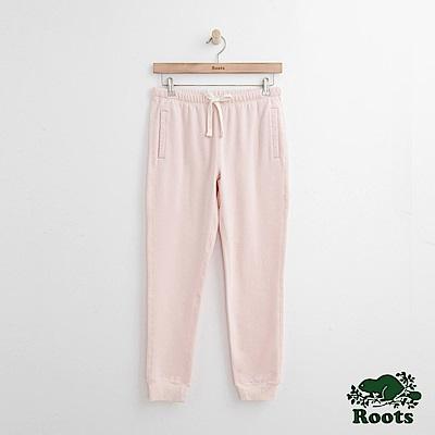 Roots-女裝-休閒縮口棉褲粉