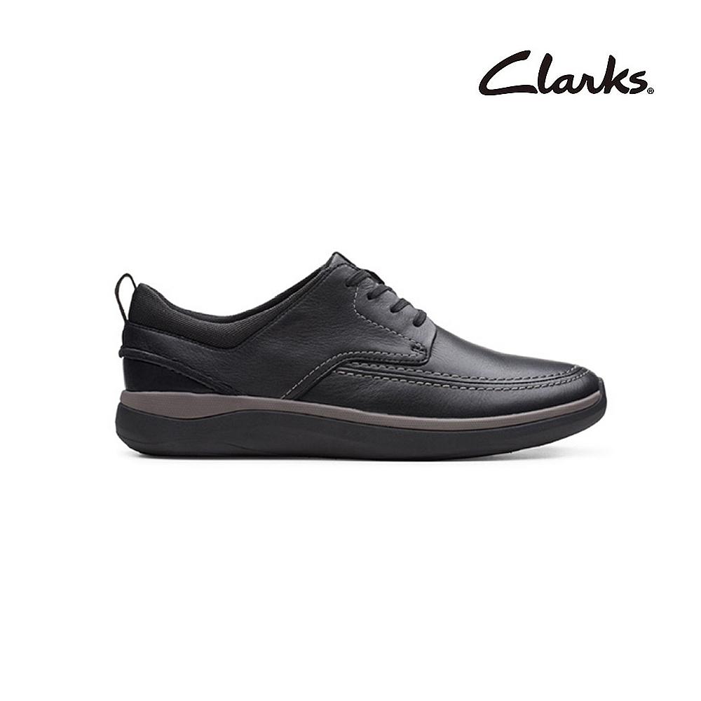 Clarks   摩登經典  Garratt Street   男鞋   黑色   CLM48761SC20