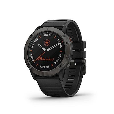GARMIN Fenix 6X Pro Solar(太陽能) 進階複合式運動GPS腕錶