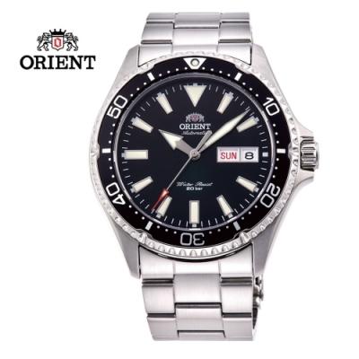 ORIENT 東方錶 WATER RESISTANT系列 200m潛水錶 鋼帶款 黑色 RA-AA0001B