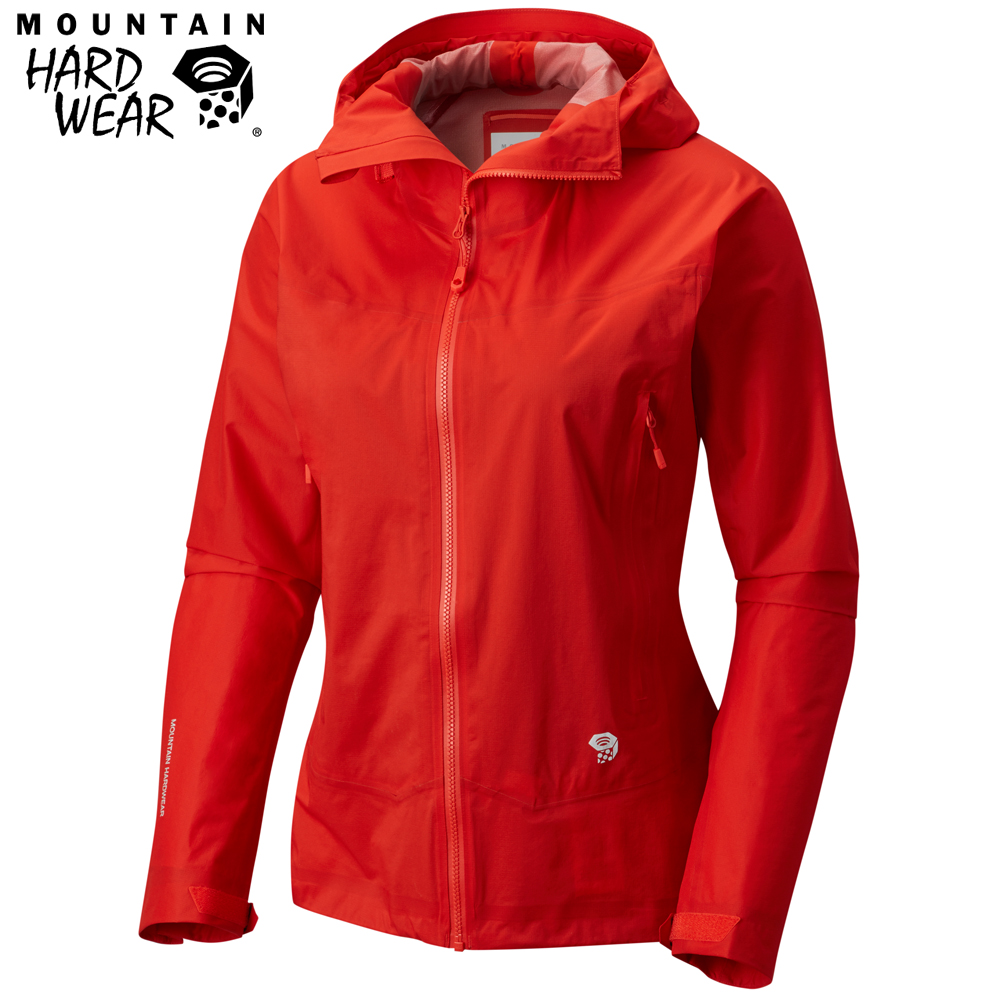 Mountain Hardwear 女款-Dry Q 輕量防水外套-紅色