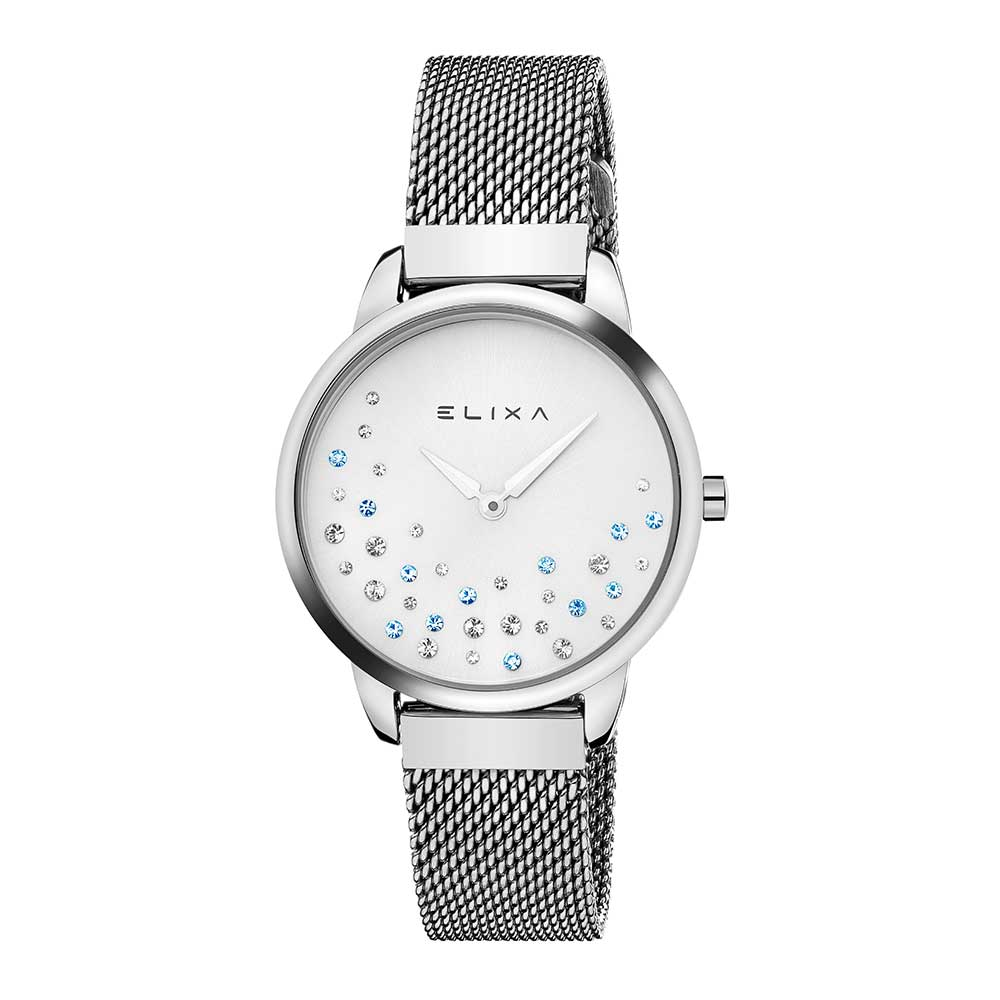 ELIXA Beauty晶鑽錶面無刻度米蘭帶系列 銀色錶帶手錶32mm @ Y!購物