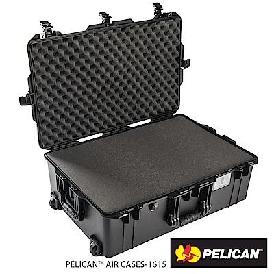 美國 PELICAN 1615Air 輪座拉桿超輕氣密箱-含泡棉(黑)