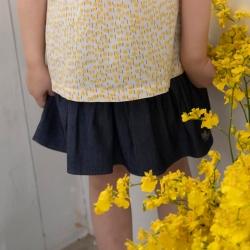 PIPPY夏日波浪迷人短裙 藍