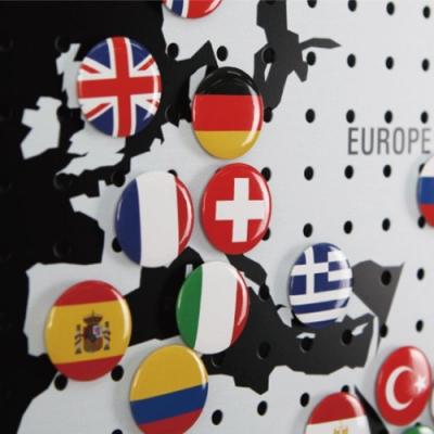 洞洞板專用世界國旗磁鐵