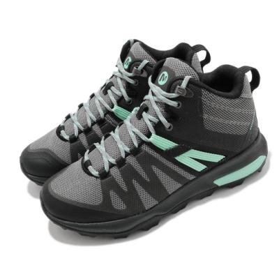 Merrell 戶外鞋 Zion FST Waterproof 女鞋 登山 越野 中筒 防水 耐磨 避震 黑 綠 ML035398