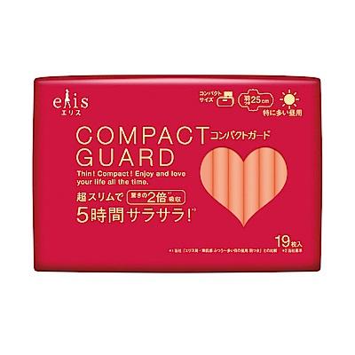 日本大王elis愛麗思COMPACT GUARD GO可愛日用超薄25cm (19片/包)