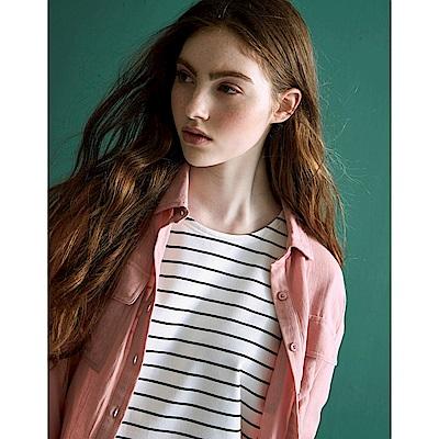CACO-大口袋素襯衫-(四色)-女【TAR008】